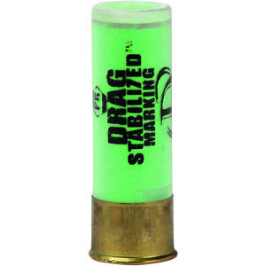 "Defense Technology Marking Bean Bag Round 12 Gauge Ammunition 1 Round 2.5"" Shell 40 Gram Drag Stabilized Bean Bag with Marking Powder Less Lethal 270 fps."