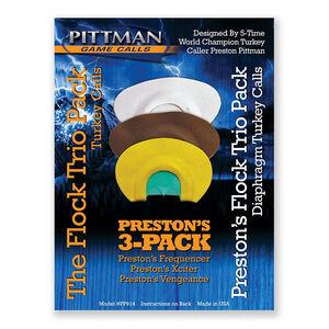 Pittman Game Calls Preston's Flock Trio Pack Diaphragm Turkey Call
