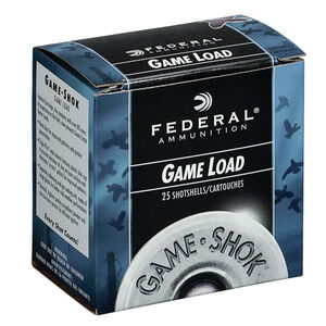"Federal Game Shok Upland Game Load 16 Gauge Ammunition 2-3/4"" #8 Lead Shot 1 Ounce 1165 fps"