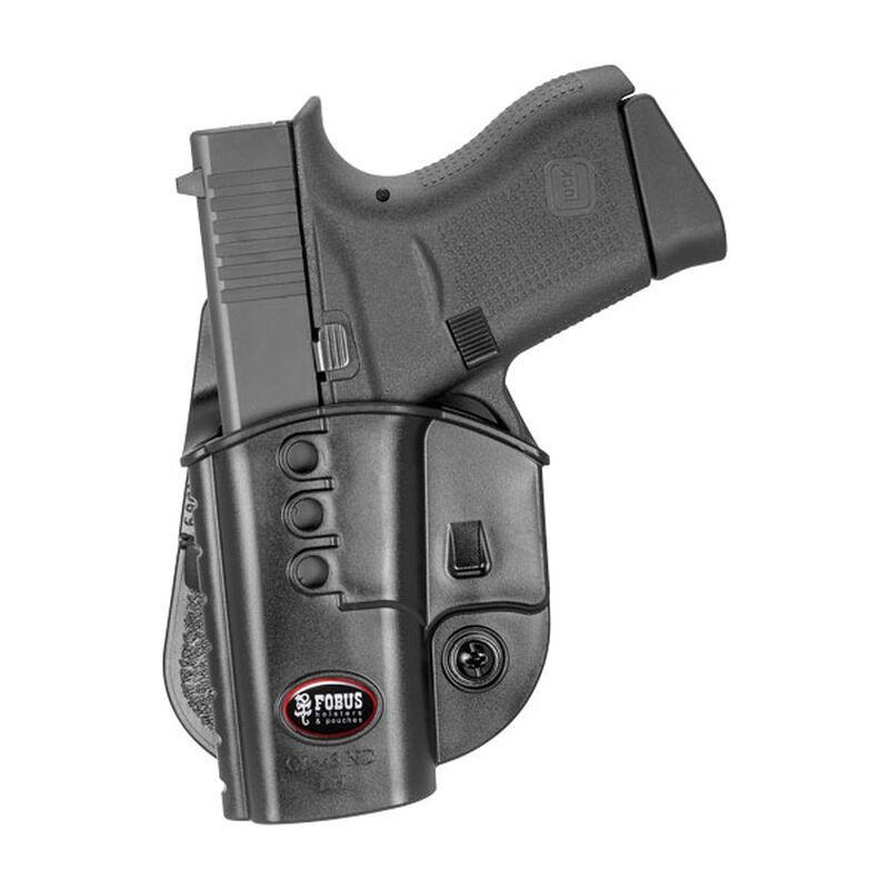 Fobus Evolution Paddle Holster For GLOCK 43 Left Hand Polymer Black GL43NDLH