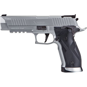 SIG Sauer X-Five ASP CO2 Semi Auto Air Pistol .177 Caliber Pellet 20 Rounds Metal Frame and Slide Silver Finish
