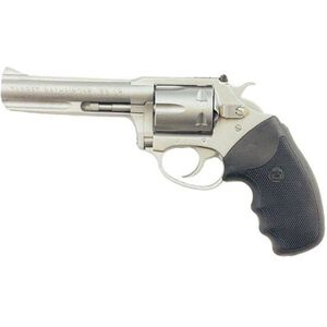 "Charter Arms Pathfinder Revolver Handgun .22 Long Rifle 4.2 "" Barrel 6 Rounds Rubber Grips Stainless Steel Frame 72242"