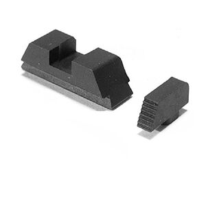 AmeriGlo Defoor Sights For GLOCK 43 Stock Height Black Front Black Rear Steel GT-532