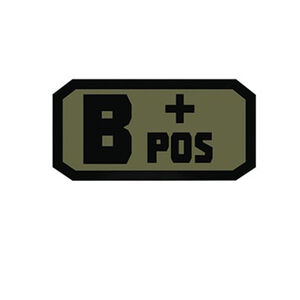 Voodoo Tactical Blood Type Patch B + POS TPR Rubber Olive Drab