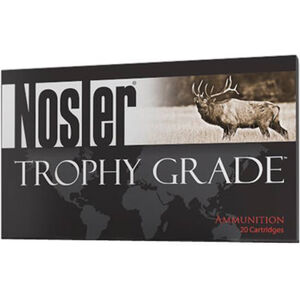 Nosler Trophy Grade .300 Remington Ultra Magnum Ammunition 20 Rounds 180 Grain E-Tip Lead Free Bullet 3200fps