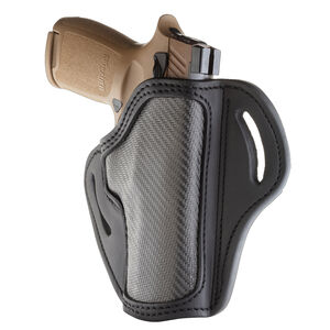 1791 Gunleather Project Stealth CF-BH2.4 Multi-Fit OWB Belt Holster for Full Size Large Frame Semi Auto Models Right Hand Draw Carbon Fiber/Leather Black