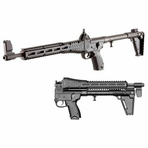 "Kel-Tec SUB-2000 G2 9mm Luger Semi Auto Rifle 16.25"" Barrel 17 Rounds M-LOK Compatible Uses GLOCK 17 Magazines Adjustable Stock Black"