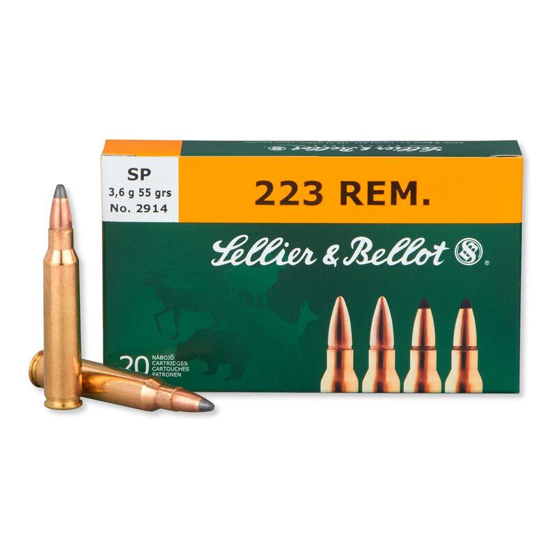Sellier & Bellot .223 Remington Ammunition 55 Grain Soft Point 3301 fps