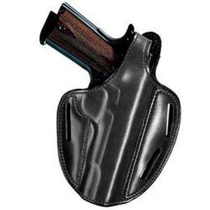 "Bianchi 7 Shadow II SZ4 Holster Right Hand Colt King Cobra, Python, S&W K, L-Frame 4"" Barrel Leather Black"
