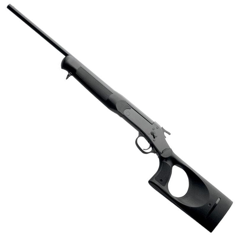 "Rossi Single Shot Tuffy Break Action Shotgun .410 Bore 3"" Chamber 18.5"" Barrel 1 Round Capacity Spurred Hammer Brass Bead Sight Thumbhole Synthetic Stock Matte Black"