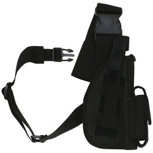 "Fox Outdoor SAS Tactical Leg Holster 5"" Right Hand Nylon Black 58-02"