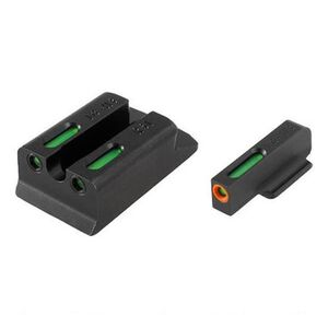 TRUGLO TFX Pro Walther PPS M2 Front and Rear Set Green TFO Night Sights Orange Ring Steel Black