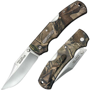 """Cold Steel Hunter Double Safe Folding Knife 3.50"""" Clip Point Blade Stainless GFN Camo"""