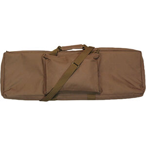 "Bob Allen Rectangular Tactical Rifle Case 42"" with External Storage Pocket Padded Synthetic Fabric Tan"