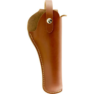 "Hunter Company VersaFit 5"" to 6"" Barrel Medium/Large Revolver Belt Holster Right Hand Retention Strap Hand Crafted Top Grain Leather Brown"