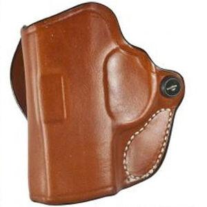 """DeSantis Mini Scabbard Holster S&W J Frame 2-2.25"""" Barrel OWB 1.5"""" Belt Left Hand Leather Tan"""