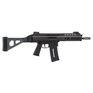 "B&T APC300 Semi Auto Pistol .300 AAC Blackout 8.3"" Barrel 30 Rounds Full Length Optic Rail Ambidextrous Controls Backup Sights SB Tactical Brace Aluminum Housing Matte Black"