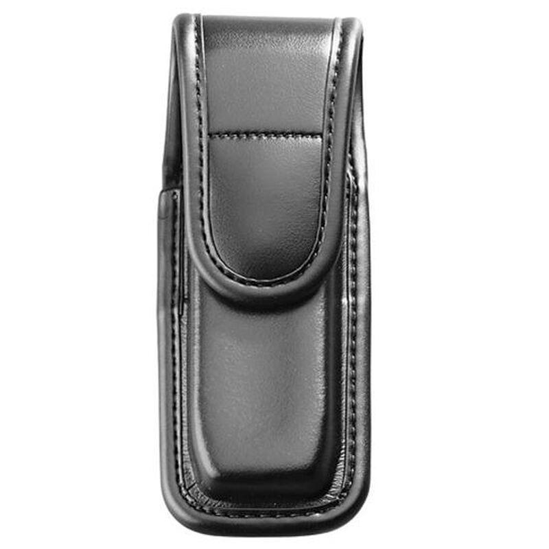 Bianchi Model 7903 AccuMold Elite Single Magazine/Knife Pouch Size 2 Hidden Snap Leather Plain Black 22933