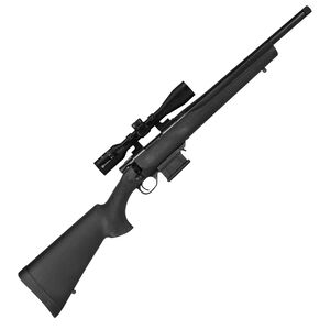 "Howa Mini Action 300 BLK Scope Combo Bolt Action Rifle 16.25"" Barrel 10 Round Magazine 3.5-10x44mm Black"