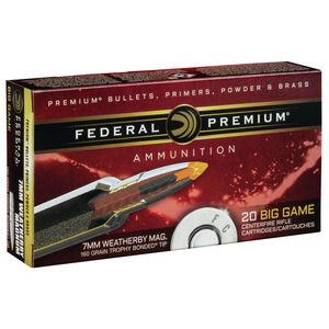 Federal 7mm Weatherby Magnum Ammunition Polymer Tip BT 160 Grains