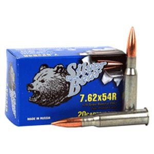 Silver Bear 7.62x54R 174 Grain Bi-Metal FMJ 20 Round Box