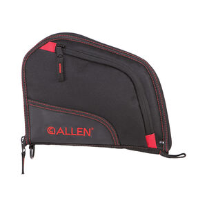 "Allen Auto-Fit Handgun Case 9"" Black/Red"