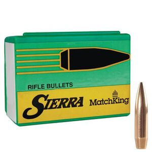 """Sierra MatchKing Bullet .22 Caliber .224"""" Diameter 77 Grain Hollow Point Boat Tail Projectile 500 Count"""