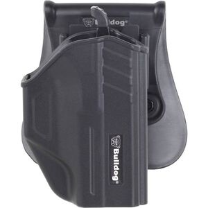 Bulldog Cases Thumb Release Polymer Holster With Paddle And Mag Holder RH Fits Taurus Millennium G2