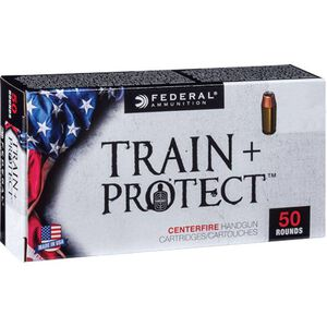 Federal Train+Protect 9mm Luger Ammunition Versatile JHP 115 Grains