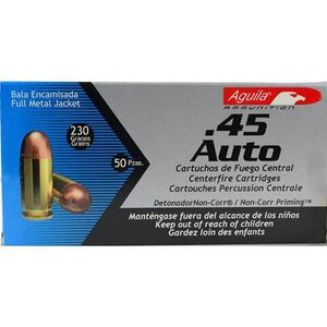 Aguila .45 ACP Ammunition 50 Rounds FMJ 230 Grains