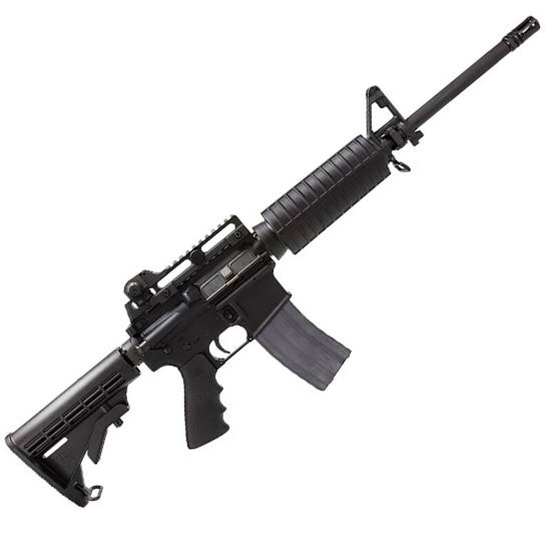 Rock River Arms Lar 15 Tactical Car A4 Tactical Carry Handle Ar 15 Semi Auto Rifle 223 Rem 5 56mm Nato 16 Chrome Lined Barrel Flip Front Sight Polymer Carbine Length Handguard Collapsible Stock Black Ar1207