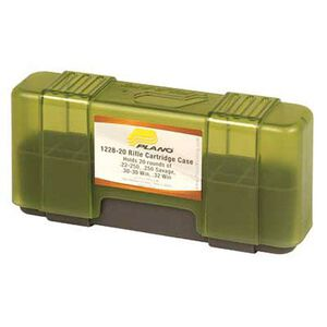 Plano Ammunition Field Box .22-250/.250 Savage/.30-30 Win/.32 Win Holds 20 Rounds 6-Pack Charcoal/Green 1228-20
