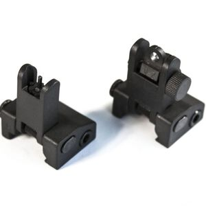 JE Machine Flip up Polymer Front and Rear Sight Set Black
