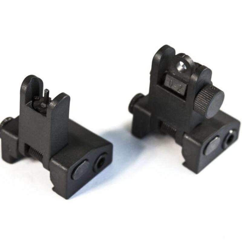 JE Machine Flip up Polymer Front and Rear Sight Set Black