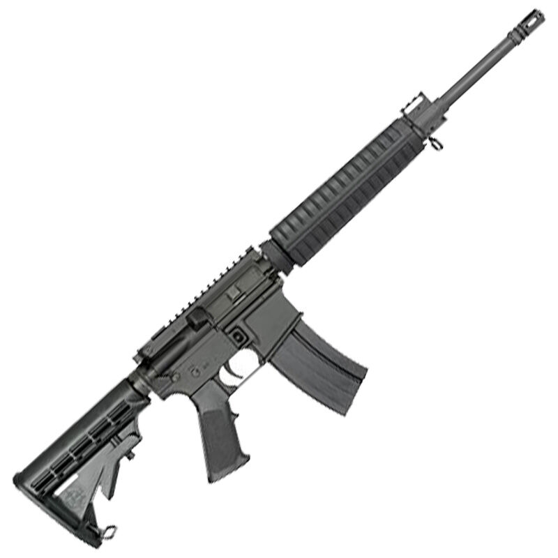 "Rock River Arms Mid-Length A4 6.8 SPC AR-15 Semi-Auto Rifle 16"" Barrel 25 Rounds Flat Top Optics Ready Adjustable Stock Black Finish"