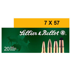 Sellier & Bellot 7x57 Ammunition 20 Rounds 140 Grain Soft Point Projectile 2,651fps