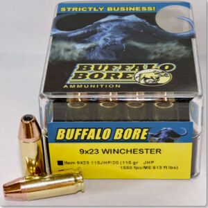 Buffalo Bore 9x23 Winchester Ammunition 20 Rounds JHP 115 Grains 9x23 115JHP/20