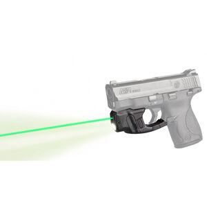 LaserMax Centerfire Light/Laser Sight System Green Laser/100 Lumen Mint Green Light S&W M&P Shield 1/3N Battery Polymer Housing Matte Black