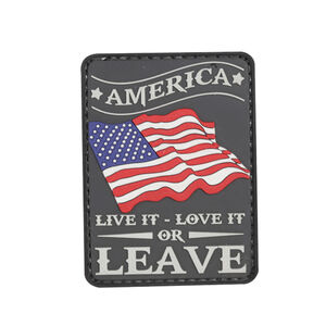 5ive Star Gear America Live It Morale Patch PVC Red White Blue and Grey