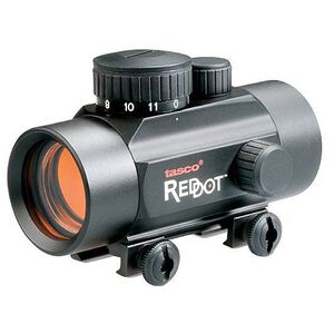 Tasco 30mm Red Dot Sight Illuminated 5 MOA Reticle Fits Shotguns and Handguns Black Matte BKRD30