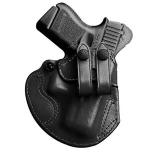 DeSantis Cozy Partner IWB Holster For GLOCK 17/19 Ruger SR9/40 Right Hand Leather Black 028BAB2Z0