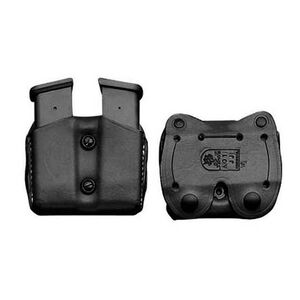 DeSantis GLOCK 20 Double Magazine Pouch Leather Black