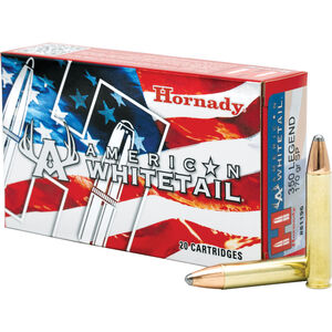 Hornady American Whitetail .350 Legend Ammunition 20 Rounds Interlock JSP 170 Grains