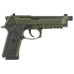 "Beretta M9A3 9mm Semi Auto Pistol 5"" Threaded Barrel 17 Rounds Night Sights Green Slide and Frame"