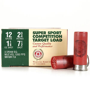 """Estate Game and Target 12 Ga 2.75"""" #7.5 Lead 250 Rounds"""