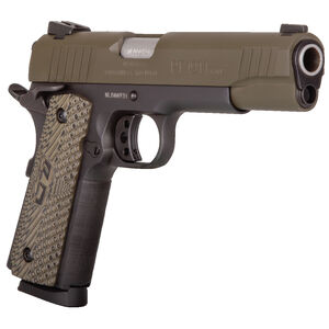 "Taurus Full Size 1911 .45 ACP Semi Auto Pistol 5"" Barrel 8 Rounds Novak Sights Two Tone Finish Cerakote Green Slide/Matte Black Frame"