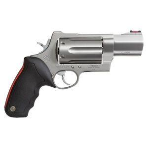 """Taurus Raging Judge 513 Double Action Revolver .454 Casull/.45 Long Colt/.410 Bore 3"""" Chamber 3"""" Barrel 6 Round Fixed Red Fiber Optic Front Sight Rubber Grip Matte Stainless Steel"""