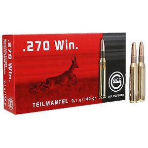 GECO .270 Winchester Ammunition 20 Rounds 140 Grain Soft Point