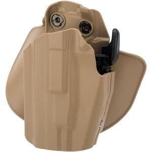 Safariland 578 GLS Pro-Fit Compact Holster w/ Paddle, Left Hand Belt Carry, Dark Earth
