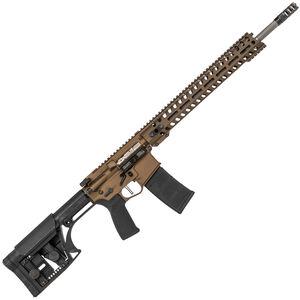 "POF USA Renegade Plus SPR Semi Auto Rifle .223 Wylde 18.5"" Barrel 30 Rounds Direct Gas Impingement System M-LOK Rail Luth-AR MBA Stock Burnt Bronze"